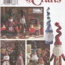 Simplicity Sewing Pattern 9884 Christmas Crafts Mr. Mrs. Santa Elf Snowman Decorations