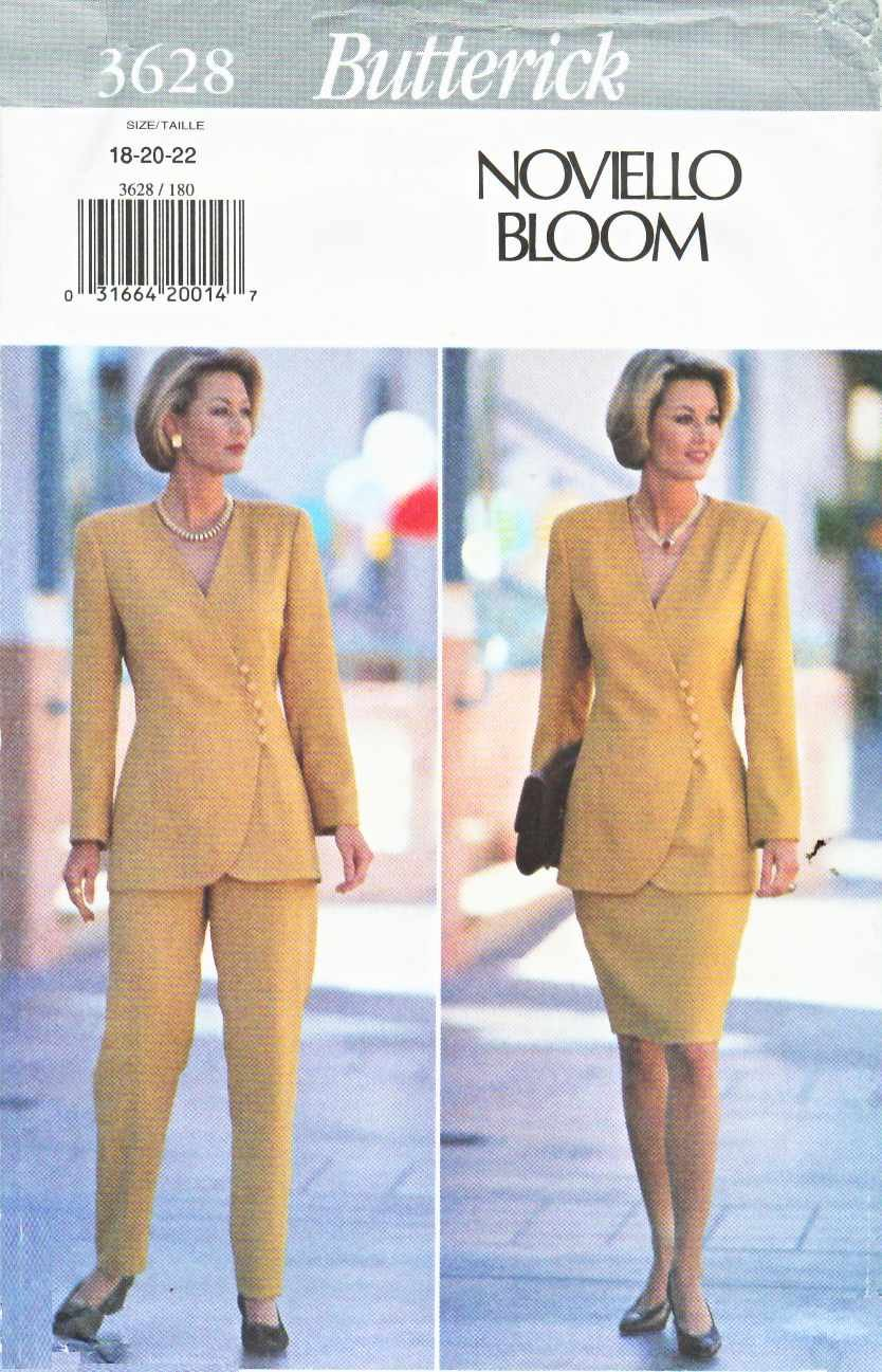 Butterick Sewing Pattern 3628 Misses Size 6-8-10 Easy Jacket Straight Skirt Pants Suit