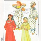 Simplicity Sewing Pattern 8942 Girls Size 8-10 Nightgown Robe Pajamas Hat Nightcap