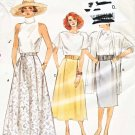 Vogue Sewing Pattern 9850 V9850 Misses Sizes 8-12 Easy Classic Straight Flared Skirts Length Options