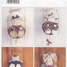 Butterick Sewing Pattern 3521 Needle In a Haystack animal Wall Hangings