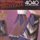 Stretch & Sew Sewing Pattern 4040 Misses Sizes 4-18 Calico Patchwork Skirts