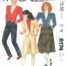 McCall's Sewing Pattern 8174 Misses Size 12 Wardrobe Jacket Pants Skirt Culottes