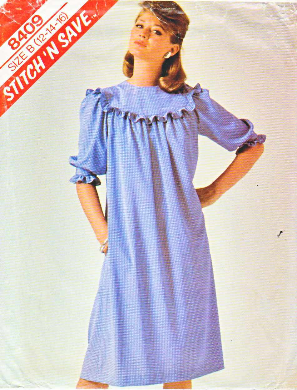 McCall's Sewing Pattern 8409 Misses Size 12-16 Loose-Fitting Dress Elbow Length Sleeves