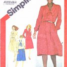 Simplicity Sewing Pattern 5166 Misses Sizes 6-8 Button Front Jacket Shirtwaist Dress Sleeve Options