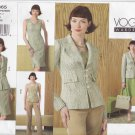 Vogue Sewing Pattern 2865 V2865 Misses Size 6-10 Wardrobe Top Pants Jacket Skirt Dress