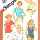 Simplicity Sewing Pattern 5380 Misses Sizes 10 Pullover Tops Sleeve Neckline Options