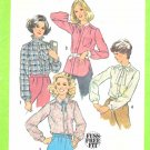 Simplicity Sewing Pattern 8738 Misses Size 16 Classic Button Front Long Sleeve Blouse Shirt