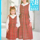 Butterick Sewing Pattern 6332 B6332 Girls Size 7-10 Easy Pullover Jumper Button Front Blouse