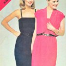 Butterick Sewing Pattern 5241 Misses Size 6-10 Shoulder Strap Straight Dress Jacket Bolero