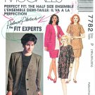 McCalls Sewing Pattern 7782 Woman's Half-Size 18 ½ - 20 ½ - 22 ½ Ensemble Dress Skirt Top Jacket