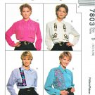 McCalls Sewing Pattern 7803 Misses Size 12-16 Nancy Zieman Creative Long Sleeve Blouse