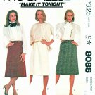 McCalls Sewing Pattern 8086 Misses Size 8-12 Classic Straight A-Line Skirts