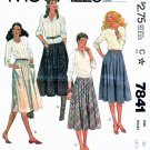McCalls Sewing Pattern 7841 Misses Size 12 Classic Gathered Bias Flared Skirts