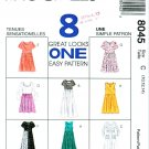 McCalls Sewing Pattern 8045 Misses Size 10-14 Easy Pullover Dress Length Sleeve Neck Options