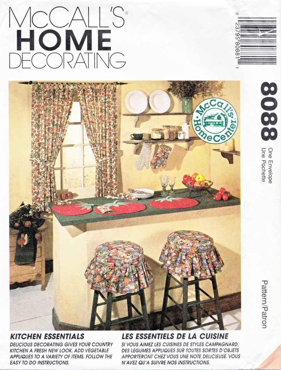 Mccall 39 S Sewing Pattern 8088 Crafts Home Decorating