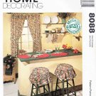 McCall's Sewing Pattern 8088 Crafts Home Decorating Kitchen Essentials Curtains Placemats