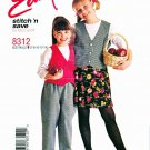 McCalls Sewing Pattern 8312 M8312 Girls Size 7-14 Easy Button Front Lined Vest Pants Skirt