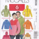 "McCall's Sewing Pattern 5538 M5538 Misses Mens Chest Size 46- 56"" Easy Pullover Zipper Front Jacket"