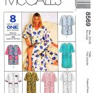 McCalls Sewing Pattern 8569 Misses Size 8-10 Button Front Bath Robe Length Options