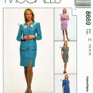 McCalls Sewing Pattern 8669 Misses Size 10-14 Dress Skirt Jacket Suit Sleeve Options