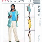 McCalls Sewing Pattern 8739 Misses Size 14-18 Easy Wardrobe Pants Shorts Dress Top