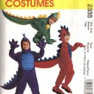 McCall's Sewing Pattern 2335 M2335 Childs Boys Girls Size 3-4 Dinosaur Dragon Halloween Costume