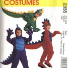 McCall's Sewing Pattern 2335 M2335 Childs Boys Girls Size 2 Dinosaur Dragon Halloween Costume