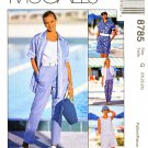 McCalls Sewing Pattern 8785 Misses Size 20-24 Wardrobe Pants Shorts Shirt Tank Top