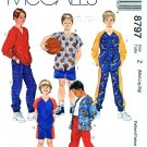 McCall's Sewing Pattern 8797 Childs Boys Size 7-16 Button Front Shirt Top Pants Shorts