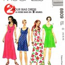 McCalls Sewing Pattern 8809 Misses Size 10-14 Two Hour Bias Dress Length Sleeve Options