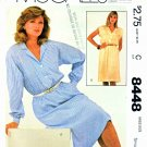 McCalls Sewing Pattern 8448 Misses Size 10-12 Easy Long Sleeve Sleeveless Straight Dress