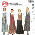 McCalls Sewing Pattern 8932 Misses Size 8-12 2 Hour Dropped Waist Jumper
