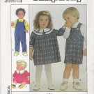 Simplicity Sewing Pattern 8933 Boys Girls Size 3 Florence Eiseman Dress Overalls Length Options