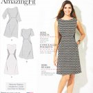 Simplicity Sewing Pattern 1277 Women's Plus Size 20W-28W Amazing Fit Dress Sleeve Options