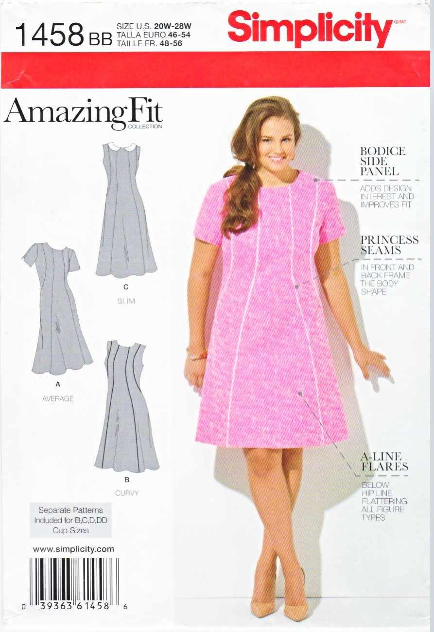 Simplicity Sewing Pattern 1277 Women S Plus Size 20w 28w