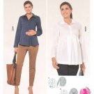 Burda Sewing Pattern 6958 Maternity Misses Size 8-20 Button Front Pullover Blouses