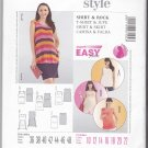 Burda Sewing Pattern 7104 Maternity Misses Size 10-22 Easy Pullover Knit Top Straight Skirt