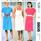 McCall's Sewing Pattern 8606 Misses Sizes 8-12 Easy Pullover Dress Bodice Options