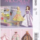 "McCall's Sewing Pattern 6903 Crafts 11 1/2"" Fashion Doll Barbie Dresses Evening Gowns Purses"