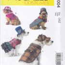 McCall's Sewing Pattern 7004 Crafts Dog Costumes Coat Hats Sherlock Holmes