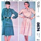 McCall's Sewing Pattern 8674 Misses Sizes 12 Easy Pullover Long Sleeve Dress