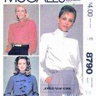 McCall's Sewing Pattern 8790 Misses Sizes 12 Jones New York Long Sleeve Blouses Collar