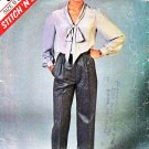 McCall's Sewing Pattern 8801 Misses Sizes 14-18 Classic Long Sleeve Bow Tie Blouse Pleated Pants