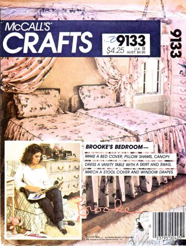 McCall's Sewing Pattern 9133 735 Brooke's Bedroom Vanity Skirt Skirt Swag Canopy Bedspread Drapes