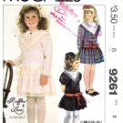 McCall's Sewing Pattern 9261 Girls Sizes 3 Ruffles & Lace  Dress Sleeve Collar Options