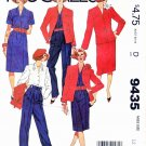 McCall's Sewing Pattern 9435 Misses Sizes 12 Wardrobe Jacket Blouse Straight Skirt Pants