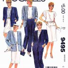 McCall's Sewing Pattern 9495 Misses Sizes 6 Mariette Hartley Wardrobe Jacket Top Skirt Pants