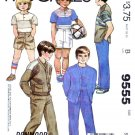 McCall's Sewing Pattern 9555 Boys Sizes 5 Donmoor Wardrobe Pants Shorts Knit Top Cardigan