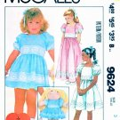 McCall's Sewing Pattern 9624 Girls Sizes 3 Dress Length Options Cabbage Patch Doll Dress